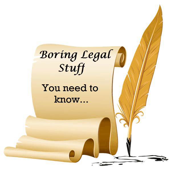 Our Policies the Boring legal stuff!
