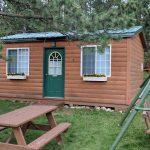 Cabin 9 - exterior and entrance door