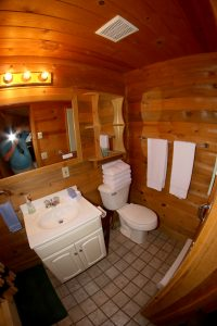 Cabin 12 bathroom