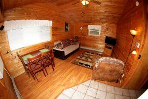 Cabin 12 fisheye view - Living area