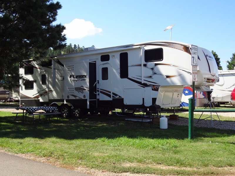 RV Pullthru Site - Rush No More Campground and Cabins Sturgis SD