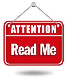 "Attention ""Read Me"" Graphic"