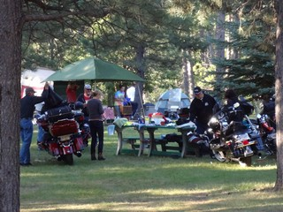 "Bike Rally Pics ""Bikes and Tents"" - Rush No More Camping Resort and Cabins Sturgis SD"