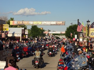 "Bike Rally Pics ""Downtown"" - Rush No More Camping Resort and Cabins Sturgis SD"