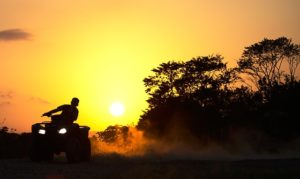 4 Wheel ATV at sundown
